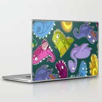 dinosaurs Laptop & iPad Skins featuring Dinosaurs by Fabio Leone