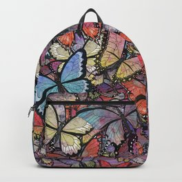 butterflies aflutter colorful version Backpack
