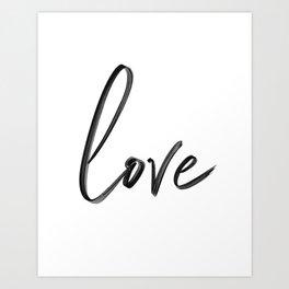 """Handwritten """"Love"""" Art Print"""