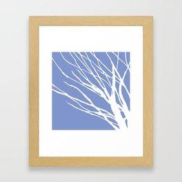 Tree Silhouette Periwinkle Blues Framed Art Print