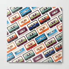 Cassettes Pattern Metal Print