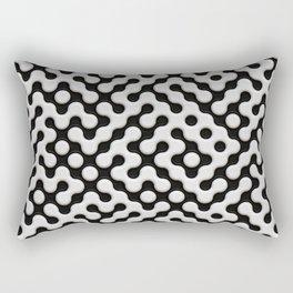 Black & White Truchet Tilling Mosaic Rectangular Pillow