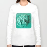 platypus Long Sleeve T-shirts featuring Platypus Face  by Ethna Gillespie