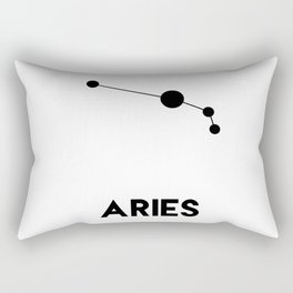 Aries Zodiac Constellation Rectangular Pillow