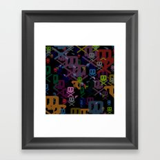 Glitchy Framed Art Print