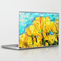 tulips Laptop & iPad Skins featuring Tulips  by sladja
