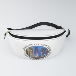 Times Square Broadway (New York Badge Emblem on white) Fanny Pack
