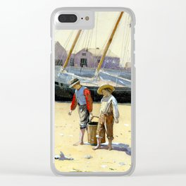 Winslow Homer A Basket of Clams Clear iPhone Case