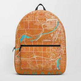 Grand Rapids, MI, USA, Gold, Blue, City, Map Backpack