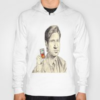 mulder Hoodies featuring Mulder by withapencilinhand