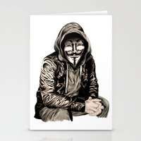 gangster Stationery Cards featuring Anonymous Gangster by 13 Styx