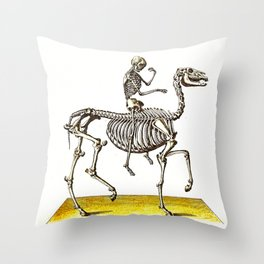 Horse Skeleton & Rider Throw Pillow