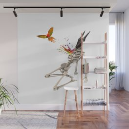 Surreal collage - Parrot Flight Wall Mural