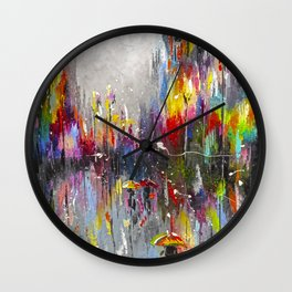 Rainy London Wall Clock