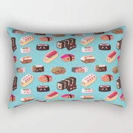 Doughnut Like Sushi Rectangular Pillow