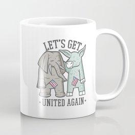 US Politics - Let's Get United Again Coffee Mug