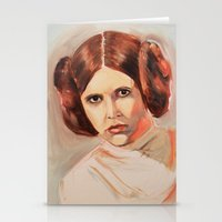 princess leia Stationery Cards featuring Princess Leia by Ashley Anderson