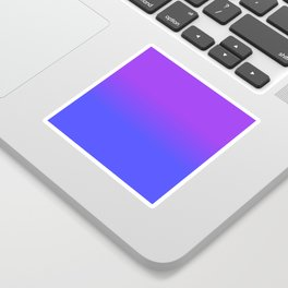 Neon Blue and Bright Neon Purpel Ombré Shade Color Fade Sticker