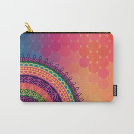 Ethnic Mandala on geometric pattern Carry-All Pouch