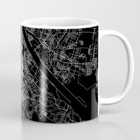 vienna Mugs featuring Vienna map by Line Line Lines