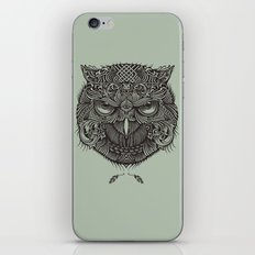 Warrior Owl Face iPhone & iPod Skin
