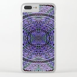 Zentangle Mandala Clear iPhone Case