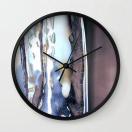 Looking Through Winter Wall Clock