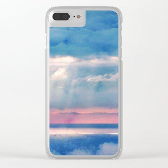 Celestial light Clear iPhone Case