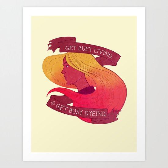 Get Busy Art Print