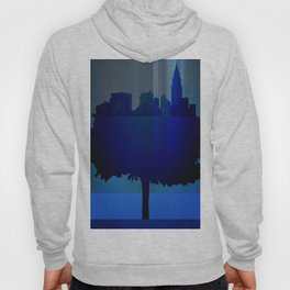 Point of view on the city blue Hoody