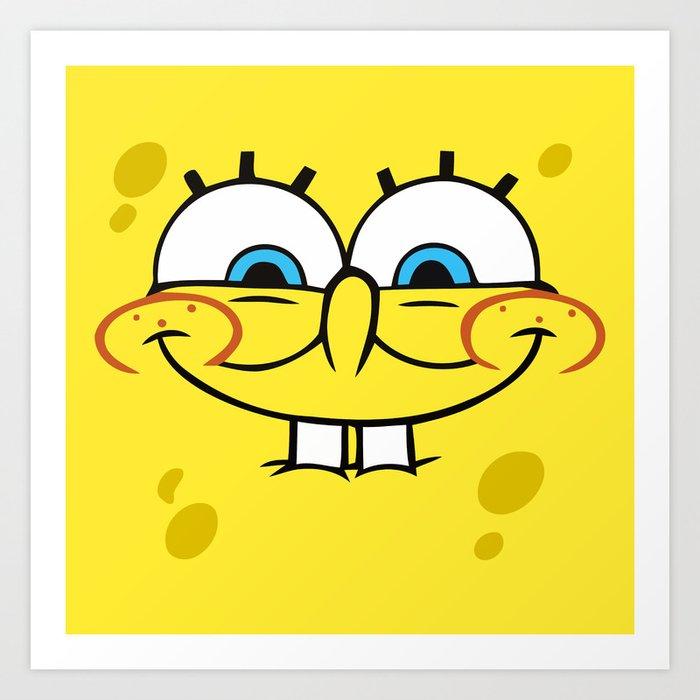 Spongebob Naughty Face Art Print