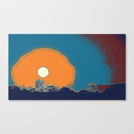 Sunset in Samarkand City, Uzbekistan Central Asia Canvas Print