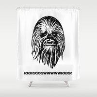 chewbacca Shower Curtains featuring Chewbacca by C Liza B
