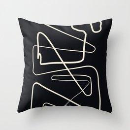 Movements Black Throw Pillow