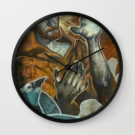 Saint Francis Revisited Wall Clock
