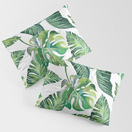 Jungle Leaves, Banana, Monstera #society6 Pillow Sham