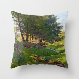 Maurice Cullen Summer near Beaupre Throw Pillow