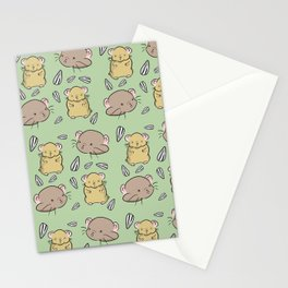 Hamster Pattern Stationery Cards