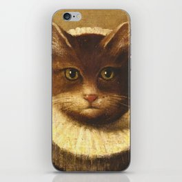 Cat In A Ruff Cute Victorian Art iPhone Skin