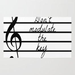Don't Modulate the Key Rug