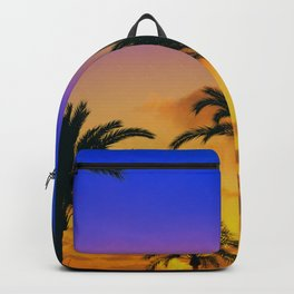 Beach Sunset throw Palm Trees Backpack