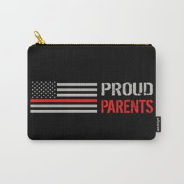 Firefighter: Proud Parents (Thin Red Line) Carry-All Pouch