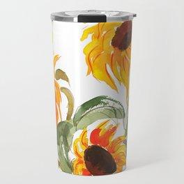 sunflower watewrcolor 2018 Travel Mug