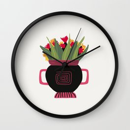Floral vibes XII Wall Clock