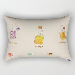 Vintage Herbal Teas Rectangular Pillow