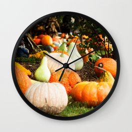 Pumpkin Patch - Alpha, Illinois Wall Clock