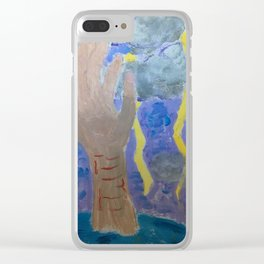 drowning in self harm Clear iPhone Case