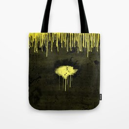 Yellow Drips Tote Bag