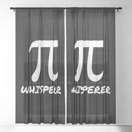 Pi Whisperer Sheer Curtain