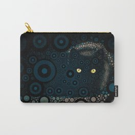 Cat In The Shadows Circle Mosaic Carry-All Pouch